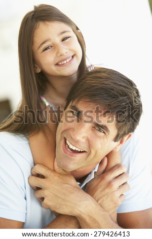 Father And Daughter Having Fun Together - stock photo