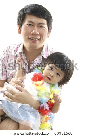 Father and Daughter Hugging Each Other - stock photo