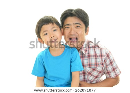 Father and son - stock photo