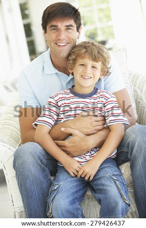Father And Son Having Fun Together - stock photo