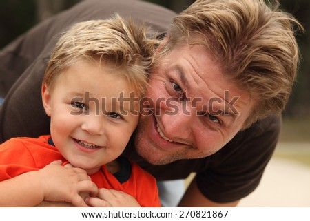 Father Son Headshot - stock photo