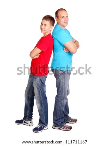 Father with his son - stock photo