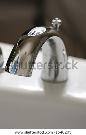 faucet no water - stock photo