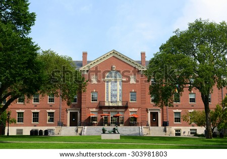 Faunce House is a Colonial Revival style building in Brown University. This building was built in 1903 and originally called Rockefeller Hall, Brown University, Providence, Rhode Island, USA - stock photo