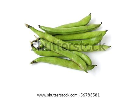 Fava beans , Italian Broad beans - stock photo