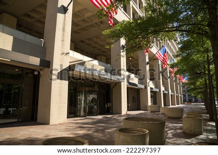 FBI Federal Bureau of Investigation headquarter building in Washington D.C. - stock photo