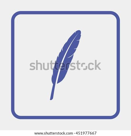 Feather icon. - stock photo