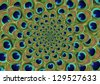 Feather Peacock Background Swirl - stock photo