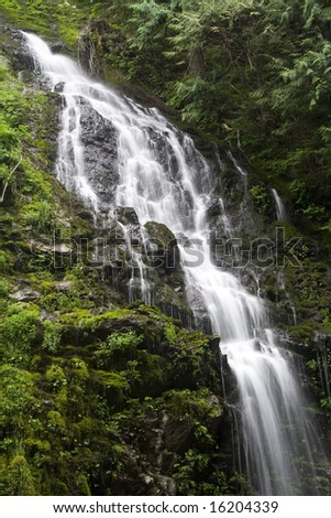 Feature Show Falls in the northern Cascade mountains - stock photo