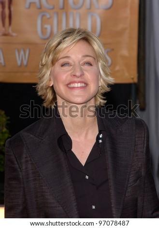 Feb 06, 2005: Los Angeles, CA: ELLEN DEGENERES at the 11th Annual Screen Actors Guild Awards at the Shrine Auditorium. - stock photo