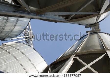 feed mill - stock photo