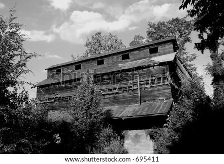 Feed Mill Ruins - stock photo