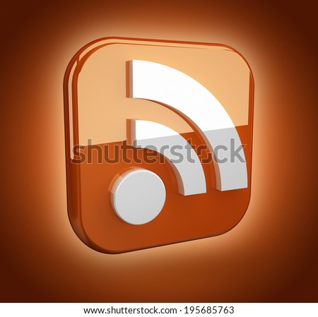 feed or rss icon - stock photo