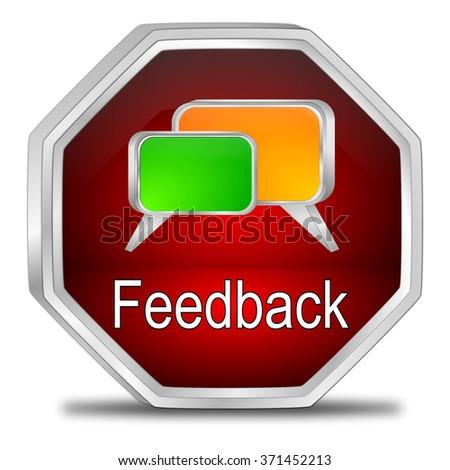 Feedback button - stock photo