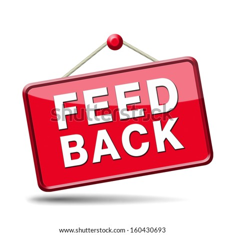 feedback icon. Testimonials and comments help to survey customer satisfaction - stock photo