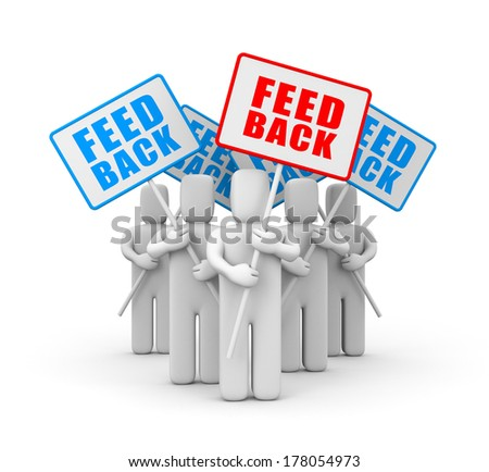Feedback, reviews and discussion - stock photo