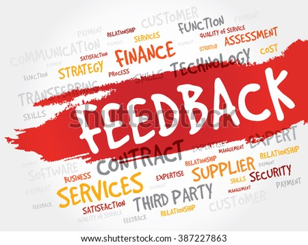 Feedback word cloud, business concept - stock photo