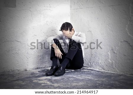 feeling depressed - stock photo