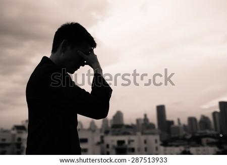 Feeling depressed. - stock photo