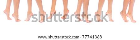 Feet Female Purity - stock photo
