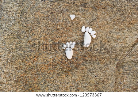 Feet made by stones - stock photo