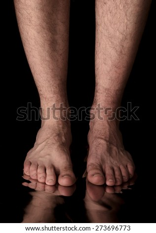 Feet of a man - stock photo