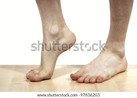feet on the isolated background - stock photo