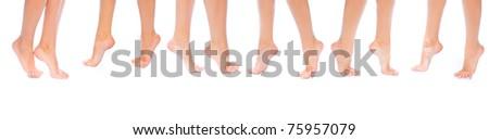 Feet Purity Isolated - stock photo