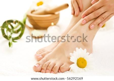Feet Spa - stock photo