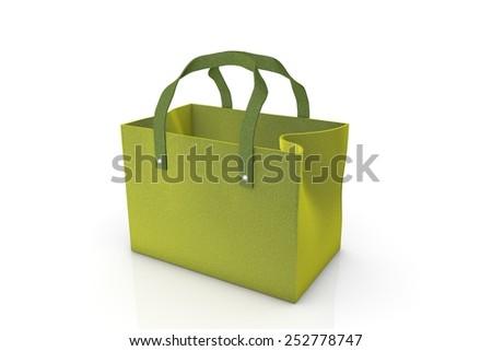 Felt bag - stock photo