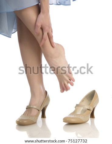 female a foot - stock photo