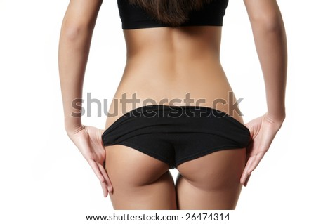 female backside - stock photo
