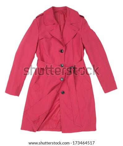 female coat  isolated on white background - stock photo