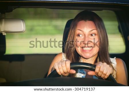 female driver insurance - stock photo