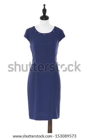 female evening dress on a dummy  - stock photo