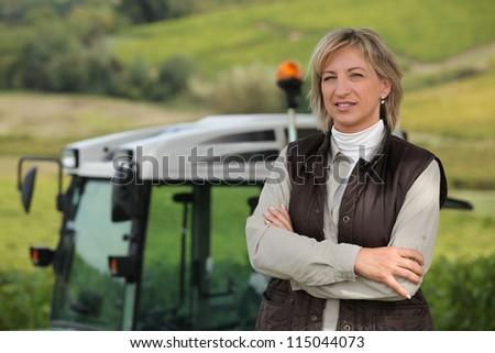 Female farmer - stock photo