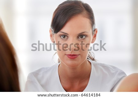 Female gynecologist doctor - stock photo