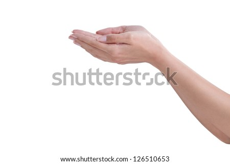 Female hands with perfect skin - stock photo