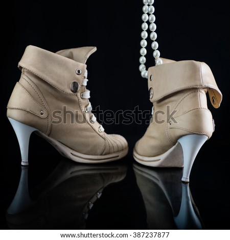 Female high heels shoes - Rear and Side View