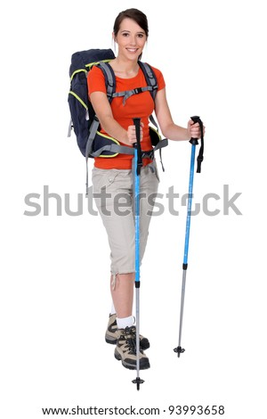 Female hiker - stock photo