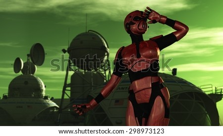 stock-photo-female-in-red-body-armor-and