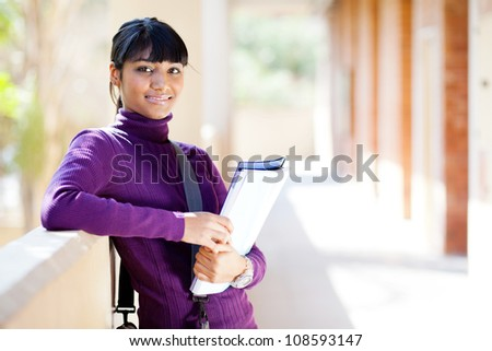 female indian college student portrait - stock photo