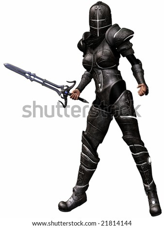 Female Knight - stock photo
