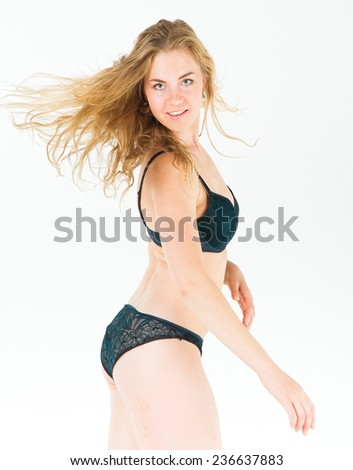 Female Lingerie Naked Beautiful  - stock photo