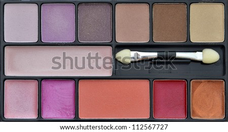 female makeup kit - stock photo