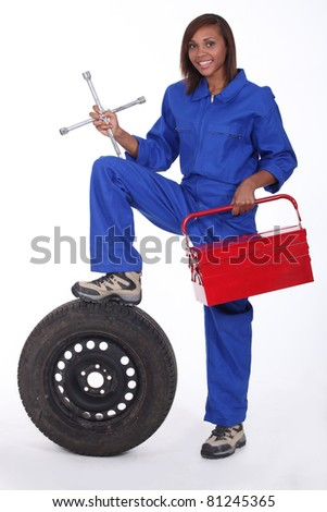 Female mechanic - stock photo