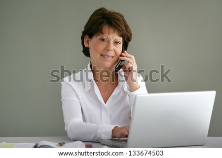 Female office manager - stock photo