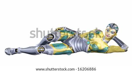 Female Robot - stock photo