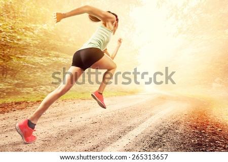 Female Runner - stock photo