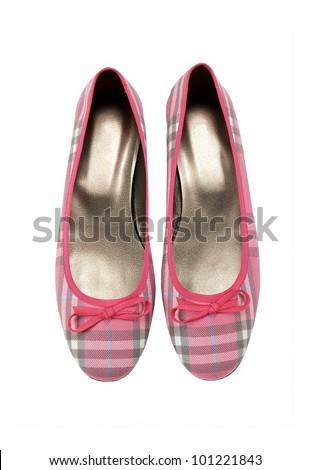 female shoes isolated on white background - stock photo